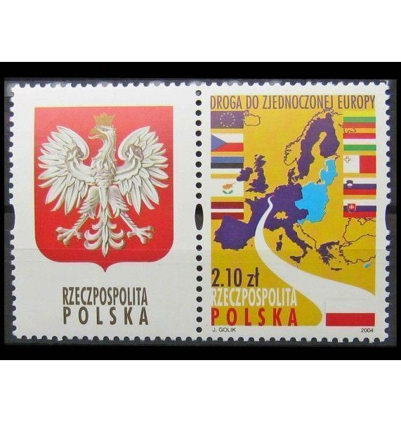 """Польша 2004 г. """"Прием в Европейский Союз"""""""