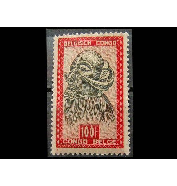 """Бельгийское Конго 1947 г. """"Африканская маска"""""""