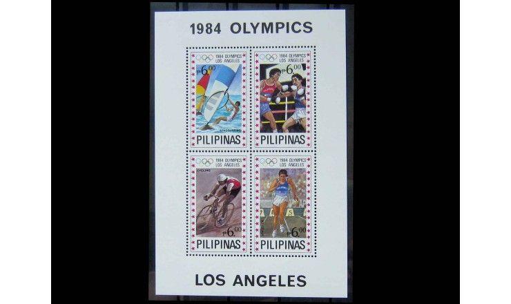 """Филиппины 1984 г. """"Летние Олимпийские игры, Лос-Анджелес"""""""