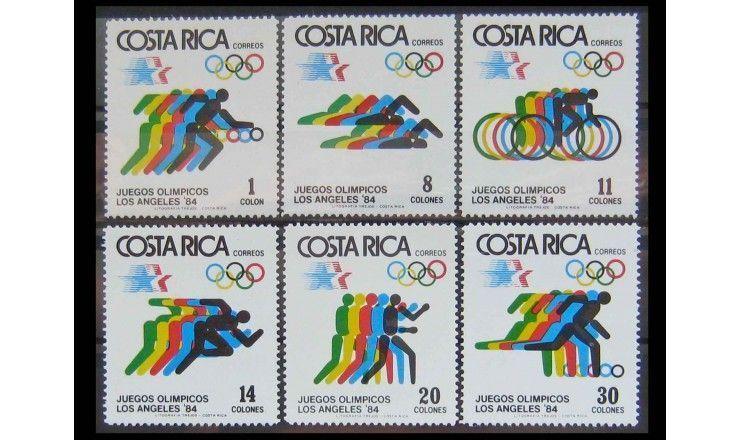 """Коста-Рика 1984 г. """"Летние Олимпийские игры, Лос-Анджелес"""""""