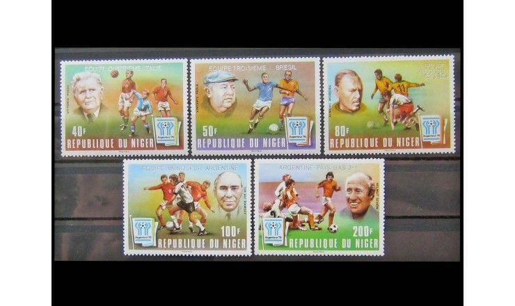 "Нигер 1978 г. ""Чемпионат мира по футболу, Аргентина"" (надпечатка)"