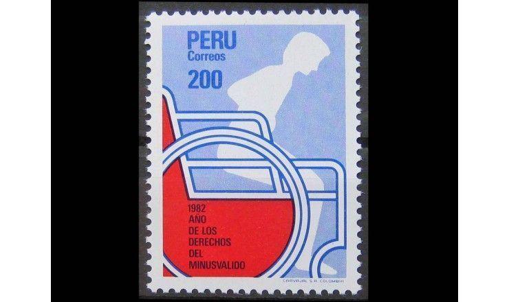 """Перу 1982 г. """"Человек в инвалидной коляске"""""""