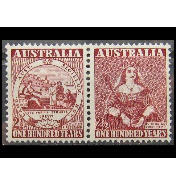 """Австралия 1950 г. """"Столетие австралийской почтовой марки"""""""