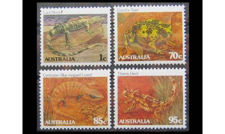"""Австралия 1983 г. """"Исчезающие виды: рептилии"""""""