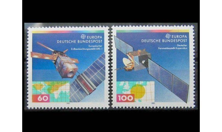 """ФРГ 1991 г. """"Европейские и немецкие спутники связи"""""""