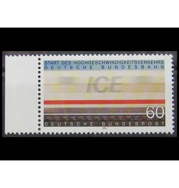 """ФРГ 1991 г. """"Высокоскоростные поезда ICE"""""""