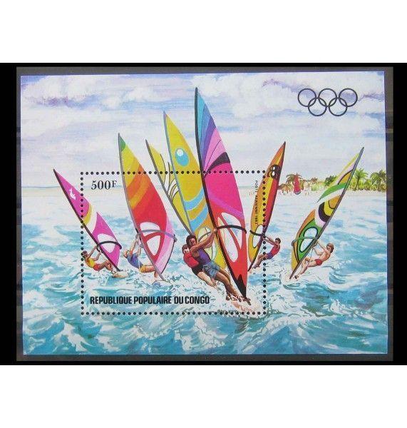 """Народная Республика Конго 1983 г. """"Предолимпийский год: Виндсерфинг"""""""