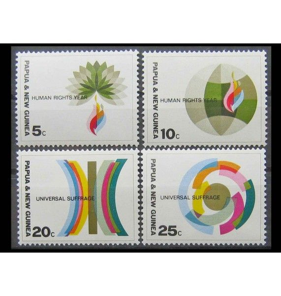 """Папуа-Новая Гвинея 1968 г. """"Международный год прав человека"""""""