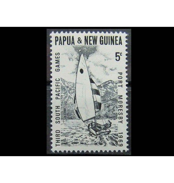 """Папуа-Новая Гвинея 1969 г. """"Парусный спорт на Южнотихоокеанских играх, Порт-Морсби"""""""