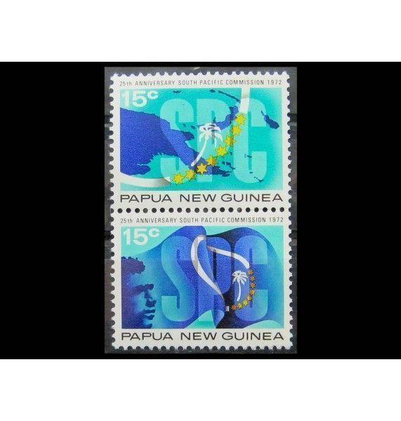 """Папуа-Новая Гвинея 1972 г. """"20-летие Южнотихоокеанской комиссии"""""""