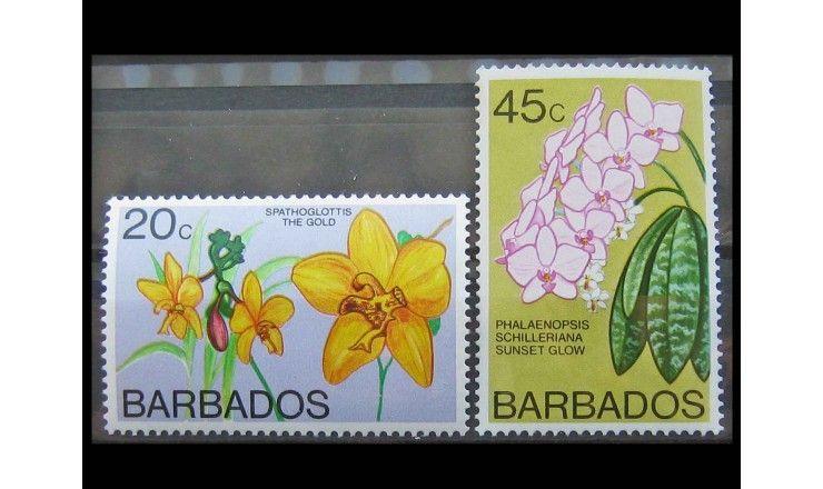 """Барбадос 1977 г. """"Орхидеи"""""""
