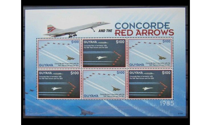 "Гайана 2007 г. ""Сверхзвуковой самолёт ""Конкорд"""