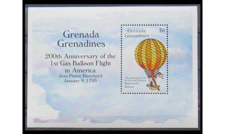 """Гренада и Гренадины 1993 г. """"Юбилеи авиации"""""""