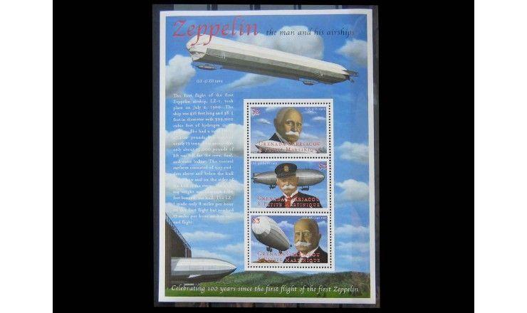 """Гренада Карриаку и Петит Мартиник 2000 г. """"Столетие первого полета цеппелина"""""""