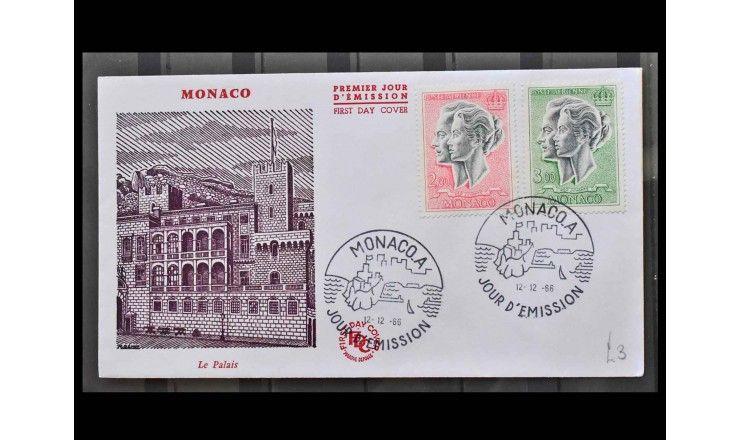 """Монако 1966 г. """"Княжеская пара"""" FDC"""