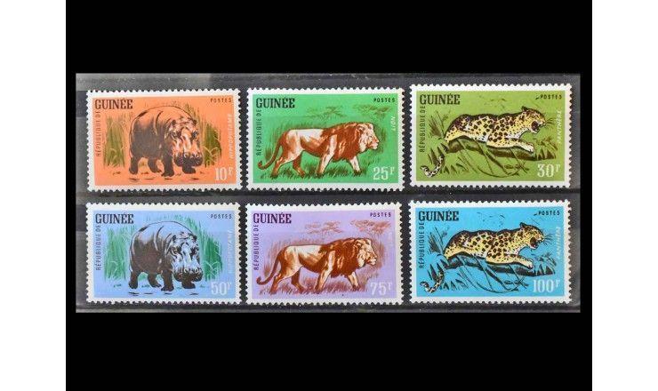 """Гвинея 1962 г. """"Стандартные марки: Животные"""""""
