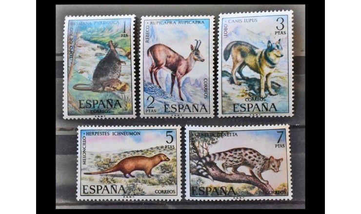 """Испания 1972 г. """"Животные Дикой Иберии"""""""