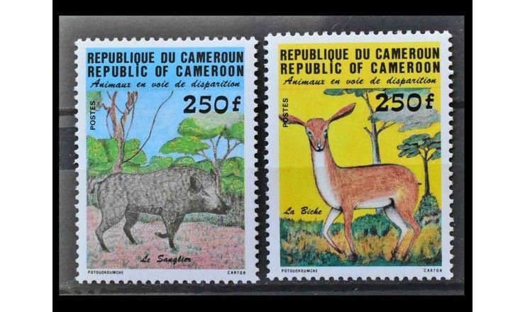 """Камерун 1984 г. """"Исчезающие животные"""""""