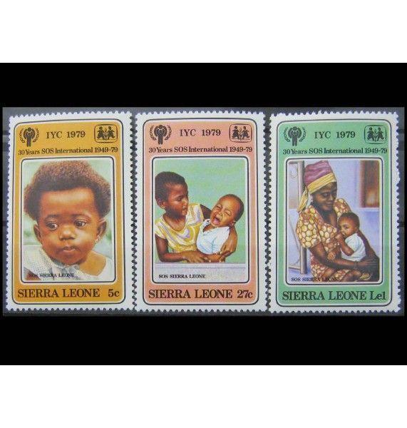 """Сьерра-Леоне 1979 г. """"Международный год ребенка: 30 лет Детским деревням - SOS"""""""