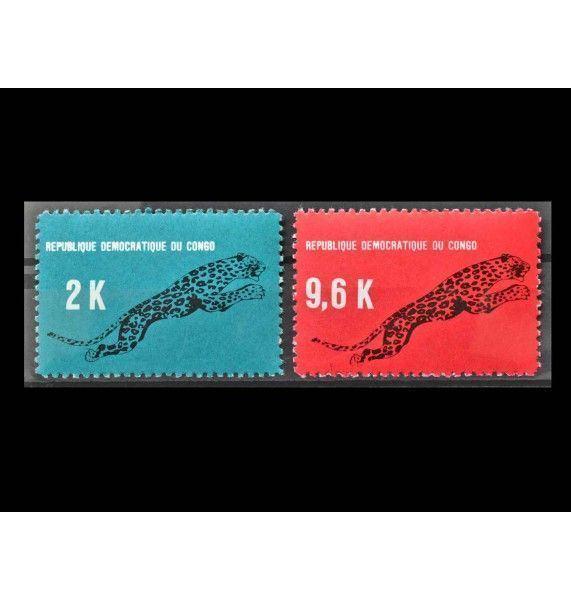 "ДР Конго 1968 г. ""Стандартные марки: Леопард"""