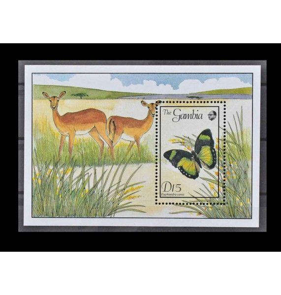 "Гамбия 1989 г. ""Бабочки"""