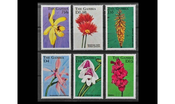 """Гамбия 1998 г. """"Африканские цветы"""""""