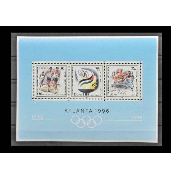 """Палестина 1996 г. """"100 лет Олимпийским играм нового времени; Летние Олимпийские игры, Атланта"""""""