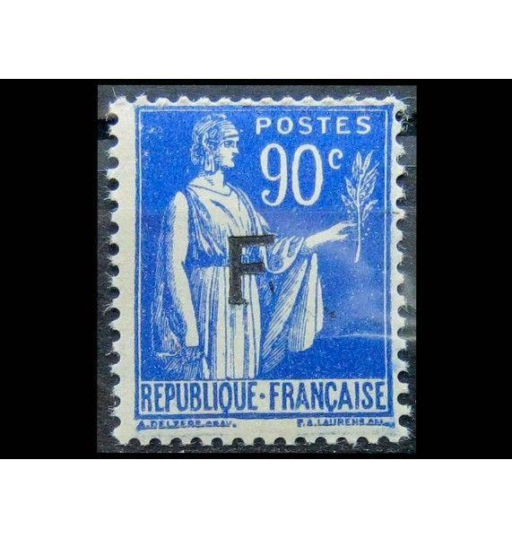 "Франция 1939 г. ""Военная почта"" (надпечатка)"