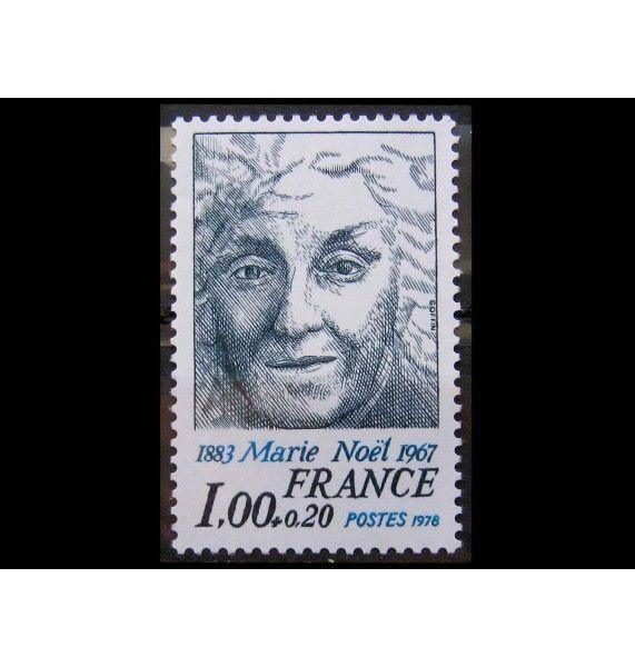 """Франция 1978 г. """"95 лет со дня рождения Мари Ноэль"""""""
