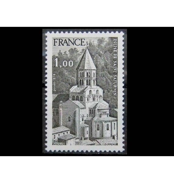 """Франция 1978 г. """"Церковь Сен-Сатурнин, Овернь"""""""