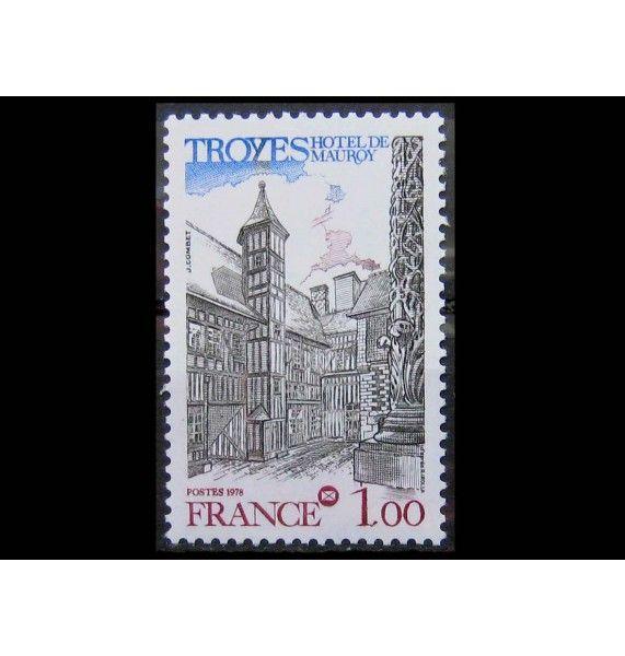 """Франция 1978 г. """"Особняк Моруа, Труа"""""""