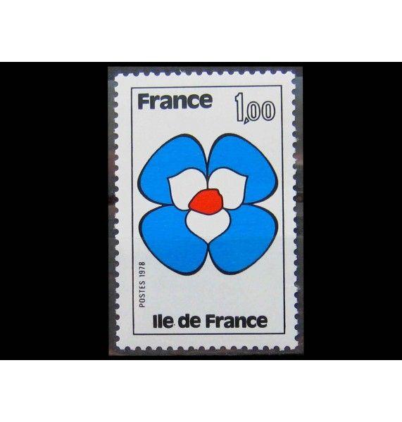 """Франция 1978 г. """"Регионы Франции: Иль-де-Франс"""""""