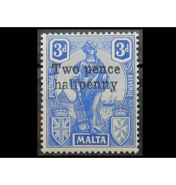 """Мальта 1922 г. """"Геральдика"""" (надпечатка)"""