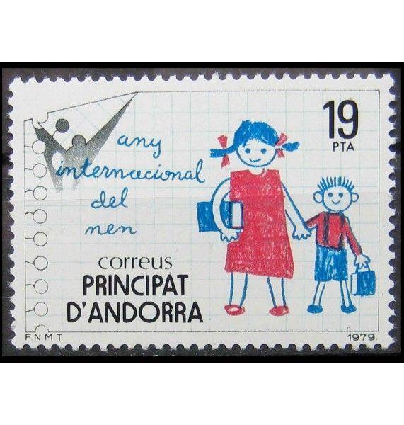 """Андорра (испанская) 1979 г. """"Международный год защиты детей"""""""