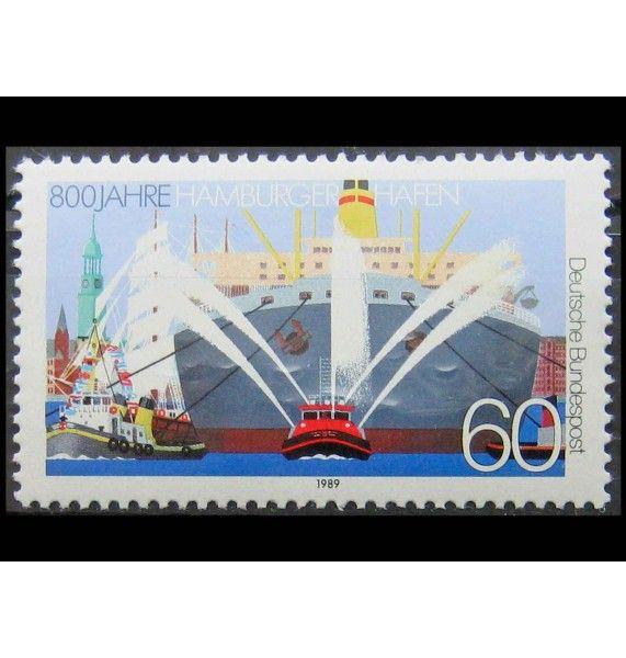 """ФРГ 1989 г. """"800 лет порту Гамбург"""""""