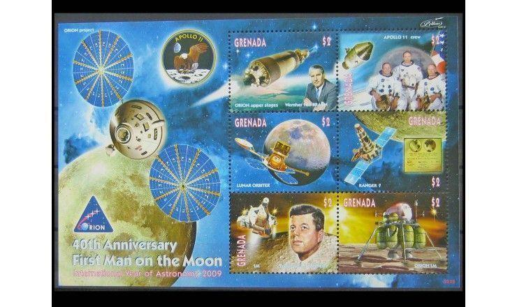 """Гренада 2009 г. """"Годовщина первой посадки на Луну"""""""