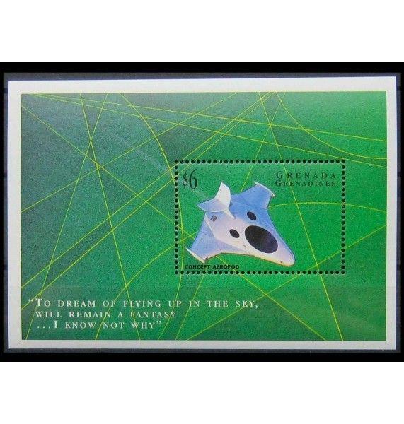 """Гренада и Гренадины 1998 г. """"Прототипы летной техники Concept Aeropod 2"""""""
