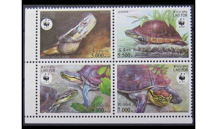"Лаос 2004 г. ""WWF Охрана природы: Амбоинская шарнирная черепаха"""