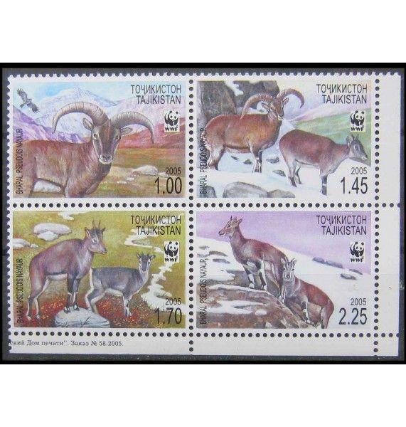 """Таджикистан 2005 г. """"WWF Охрана природы: голубой баран"""""""