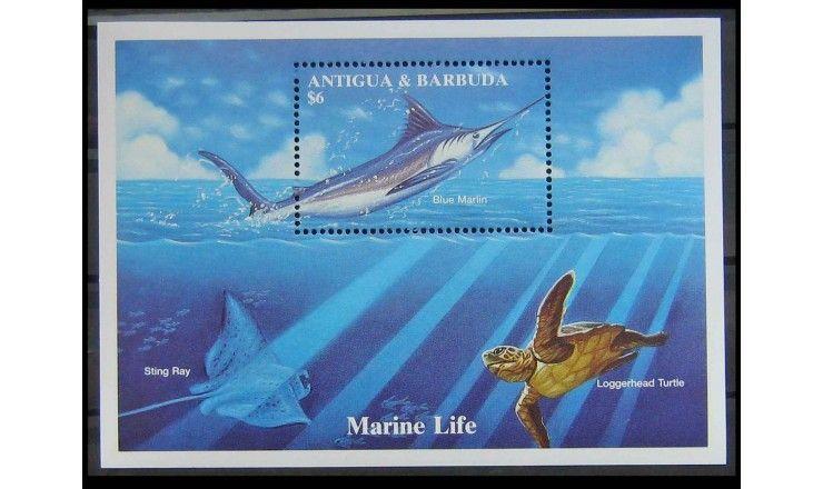"""Антигуа и Барбуда 1994 г. """"Голубой Марлин"""""""