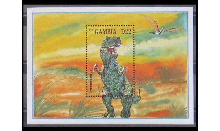 """Гамбия 1995 г. """"Динозавры"""""""