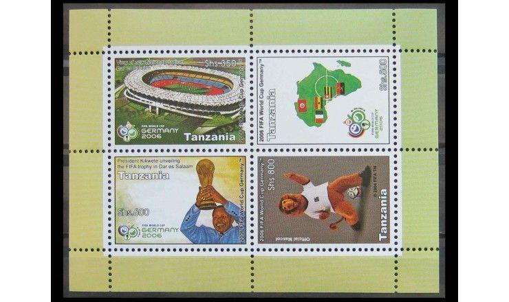 """Танзания 2006 г. """"Чемпионат мира по футболу, Германия"""""""