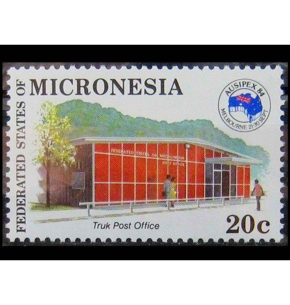 """Микронезия 1984 г. """"Международная филателистическая выставка «Ausipex 84», Мельбурн"""""""