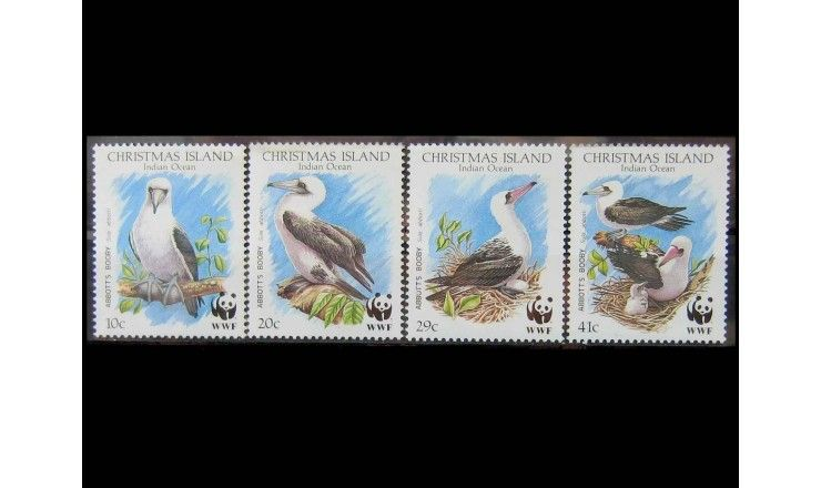 """Остров Рождества 1990 г. """"Охрана природы во всем мире"""""""