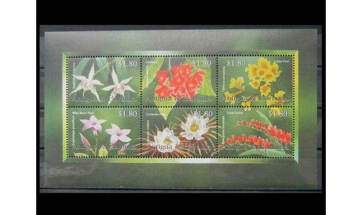 "Антигуа и Барбуда 2002 г. ""Цветы"""