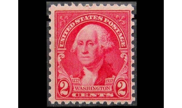 """США 1932 г. """"Джордж Вашингтон, портрет Г. Стюарта"""""""
