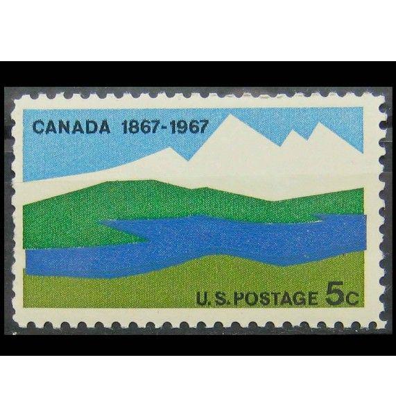 """США 1967 г. """"100-летие Канады, пейзаж"""""""