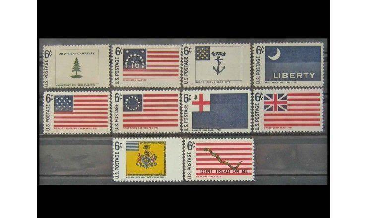"""США 1968 г. """"Исторические флаги"""""""