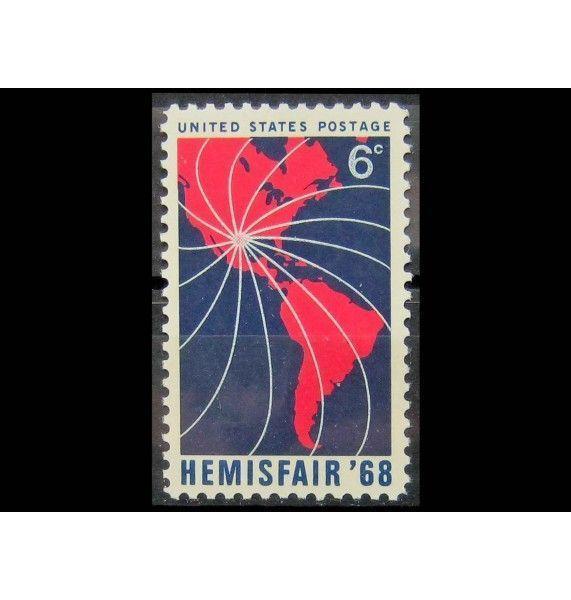 """США 1968 г. """"Всемирная выставка-ярмарка Hemis Fair в Сан-Антонио, Техас"""""""