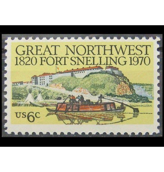 """США 1970 г. """"150 лет форту Снеллинг, Миннесота"""""""
